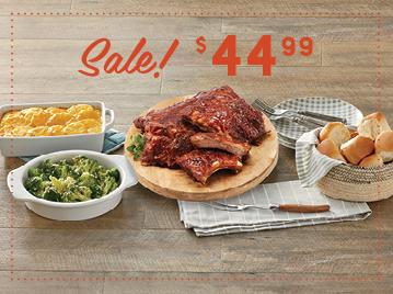 Melt-in-Your-Mouth BBQ Rib Dinner - 2 Racks BBQ Pork Ribs