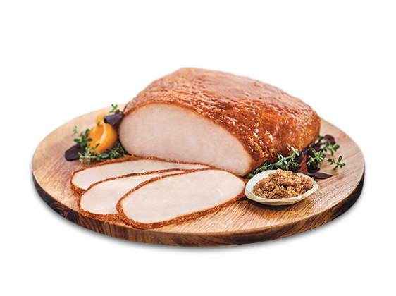 Pumpkin Spice Glazed Smoked Turkey Breast