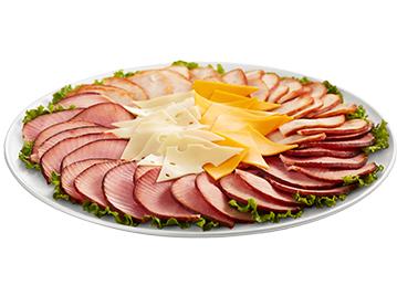 Signature Meat & Cheese Tray - Ham & Roasted Turkey